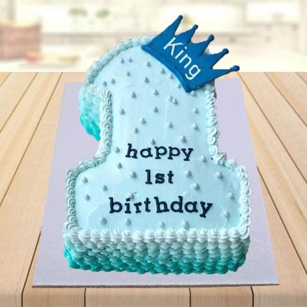 Brilliant 1 5 Kg 1St Birthday Cake For My Son Birthday Cards Printable Trancafe Filternl