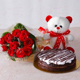 Roses, Teddy & Chocolate Cakes